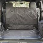 Protections de coffre et banquette arrière (avec caisson audio) Jeep Wrangler JK 2 portes