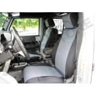 Kit de housses de sièges avant noir et gris en néoprène pour Jeep Wrangler JK (la paire)