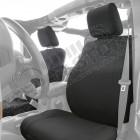 Kit de housses de sièges avant et banquette arrière en néoprène (couleur: noir) Jeep Wrangler JK (2 portes)