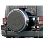 """Housse de roue de secours avec cerclage acier / inox et centre en plastique (universel) pour roue: 31""""x10.50"""""""