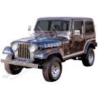 Kit ensemble autocollants couleur: argent , LAREDO Jeep CJ7