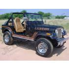 Kit ensemble autocollants couleur: marron brun , LAREDO Jeep CJ7