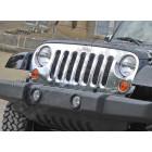 Enjoliveur de calandre en plastique chromé pour Jeep Wrangler JK
