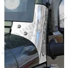 Kit fixations de baie de pare brise acier inox Jeep Wrangler JK