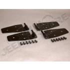 Kit de ferrures de porte, finition noire, 4 éléments, TJ,