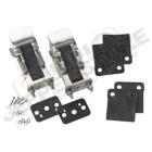 Kit d'attaches capot acier inox (type Wrangler TJ, JK) Jeep CJ et Wrangler YJ