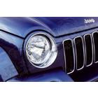 Enjoliveurs de phares (plastique chromé) Jeep Cherokee Liberty KJ