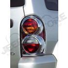 Enjoliveurs de feux arrière (plastique chromé) Jeep Cherokee Liberty KJ
