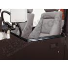 Kit de 2 glissières pour demi-porte en acier noir, Jeep Wrangler YJ