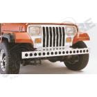 Pare chocs avant en acier / inox avec perforations, Jeep CJ, Wrangler YJ