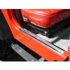 Kit protections de seuil de porte en acier / inox pour Jeep Wrangler TJ