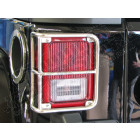 Grilles de protections de feux arrière en acier inox Jeep Wrangler JK