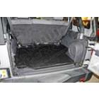 Tapis de sol en caoutchouc de coffre arrière noir, 2 portes, Jeep Wrangler JK
