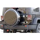 """Housse de roue de secours avec cerclage acier / inox et centre en plastique (universel) taille: 32""""x10"""""""