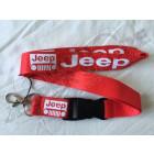Tour de cou rouge, porte clef Jeep