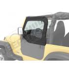 Haut de fenetres pour demi porte acier tubulaire, couleur black denim, Jeep Wrangler TJ