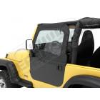 Kit haut de fenêtres souple (la paire) Jeep CJ7 et Wrangler YJ (avec armature acier)