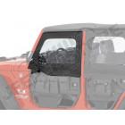 Kit de fenêtres amovible pour demi portes tubulaires avant Jeep Wrangler JK