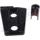 Kit enjoliveurs de charnières de portes (couleur: noire) Jeep Wrangler JK