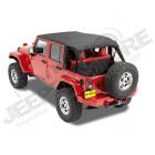 "Bikini Safari "" Cable Style "" couleur: black Diamond pour Jeep Wrangler JK unlimited 4 portes"