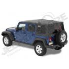 """Bâche complète """"Supertop NX"""" ''Black Twill' avec fenêtres teintées, Jeep Wrangler JK Unlimited (4 portes) (bâche de qualité triples épaisseurs )"""