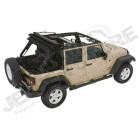 Bache complète Trektop NX Glide couleur: Black Twill (triple épaisseurs) Jeep Wrangler JK Unlimited (4 portes)