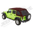 Bache complète Trektop NX Glide couleur: Crushed Red Pepper (triple épaisseurs) Jeep Wrangler JK Unlimited (4 portes)
