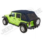 Bache complète Trektop NX Glide couleur: Navy Blue (triple épaisseurs) Jeep Wrangler JK Unlimited (4 portes)