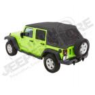Bache complète Trektop NX Glide couleur: Grise (triple épaisseurs) Jeep Wrangler JK Unlimited (4 portes)