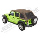Bache complète Trektop NX Glide couleur: Oak Tan (triple épaisseurs) Jeep Wrangler JK Unlimited (4 portes)