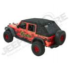 """Bache complète, """"Trektop Ultra"""" , couleur: black twill (triple épaisseurs), Jeep Wrangler JL Unlimited (4 portes)"""