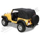 Bache d'urgence Bestop en cas de pluie Jeep Wrangler YJ (1992 - 1995) Emergency Top, Pavement Ends.