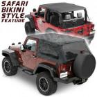 """Bache complète """"Trektop NX"""", couleur: black, Jeep Wrangler JK (2 portes)"""