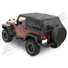 """Bâche complète """"Trektop NX"""" ''Style Black Twill' avec fenêtres teintées, Jeep Wrangler JK (2 portes) (bache de qualité triples épaisseurs )"""