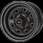 Jante acier modular noir Soft8 9x17 / 5x114.3 / ET: 0 / profondeur: 13.20cm (pour Jeep Wrangler YJ, TJ, Jeep Cherokee XJ, Jeep Cherokee Liberty KJ, Jeep Grand Cherokee ZJ, ZG, ....)
