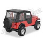 """Bâche """"Bestop Tigertop"""". sans système de glissières, avec boutons-pression Couleur: Black Crush pour Jeep CJ3 et CJ5"""