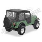 """Bâche """"Bestop Tigertop"""". sans système de glissières, avec boutons-pression Couleur: Black Crush pour Jeep CJ5"""