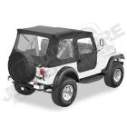 """Bâche """"Bestop Tigertop"""". sans système de glissières. avec boutons-pression Couleur: Black Crush Jeep CJ7"""