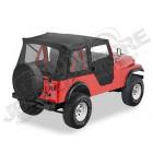"""Bâche """"Supertop"""". Bestop soft-top avec portes soft-top en deux parties séparables, Couleur: Black Crush pour Jeep CJ3 et CJ5"""