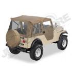 Bâche Supertop soft-top avec portes soft-top en deux parties séparables Couleurs: Tan. Jeep CJ3 et CJ5