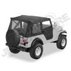 """Bâche """"Supertop"""". Bestop soft-top avec portes soft-top en deux parties séparables Couleur: Black Crush pour Jeep CJ5"""