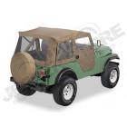 """Bâche """"Supertop"""". Bestop soft-top avec portes soft-top en deux parties séparables Couleur: Tan pour Jeep CJ5"""