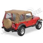 Bache complete et fenetres amovible pour demi portes ''Supertop'' , couleur: Spice Jeep Wrangler YJ