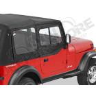 Fenêtres amovibles, avec fenêtres coulissantes pour demi-portes pour bâche soft-top d'origine, jeep Wrangler YJ