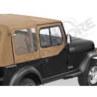 Fenêtres amovibles, avec fenêtres coulissantes pour demi-portes (pour bâche soft-top d'origine, Jeep Wrangler YJ