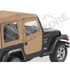 Kit demi portes en toile en deux parties séprable, couleur: spice (marron), Jeep Wrangler TJ