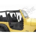 Kit demi portes tubulaire acier, couleur: Black Denim, Jeep Wrangler TJ