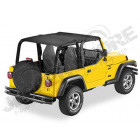 "Bikini ""Strapless"" Version Safari Couleur: Black Denim Jeep Wrangler TJ"