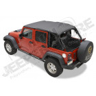 "Bikini header version: ""Safari"" , couleur: Black Diamond, Jeep Wrangler JK Unlimited 4 portes"