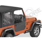 Kit demi portes en toile, couleur black denim, Jeep Wrangler TJ